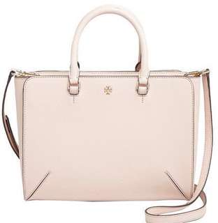 [NWT] Tory Burch Robinson Zip Tote Small Pale Apricot