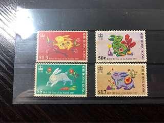 香港郵票-兔年 歲次丁卯1987