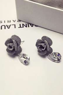 Rose Fabric Earring