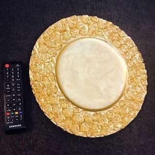 🈹️全新原$800玫瑰金圓盤,藝術擺設,新年,情人節,rose golden plate artistic decoration new year valentine lover,art deco