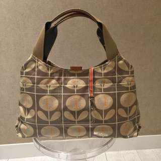 Orla Kiely waterproof canvas pattern bag