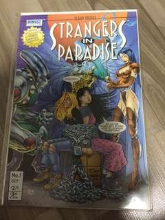 Strangers in Paradise (Homage/Abstract) 1B 1996 Chains Variant VF+ 8.5