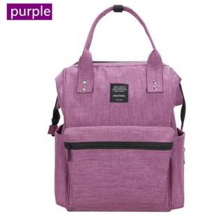❤On-hand: Baby Diaper Bag / Mommy Nursing Backpack ( Purple)
