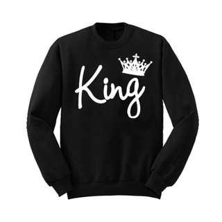 KING QUEEN Print Couple Pullover Sweatshirt