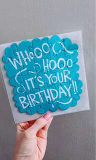 Typo Puzzle Birthday Card 拼圖生日卡