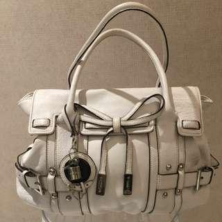 Karen Millen white leather bag