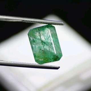 Batu Cincin Zamrud Zambia Asli