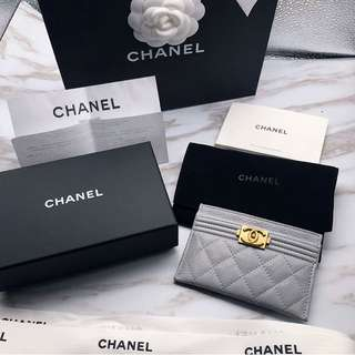 Chanel boy cardholder