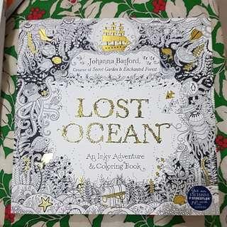 Lost Ocean. Mewarna untuk hilangkan stress
