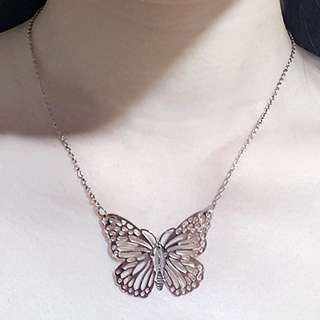 Rosegold Butterfly Pendant Necklace