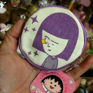 100% 原裝 日本 櫻桃小丸子 系列 野口同學 Coins Bag 帆布料 散子包 Chibi Maruko Chan