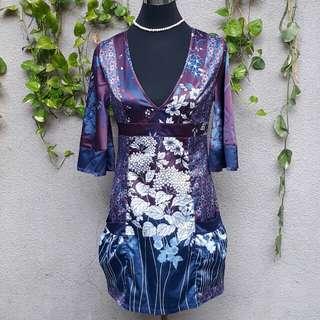 Zara japanese Kimono inspired party dress