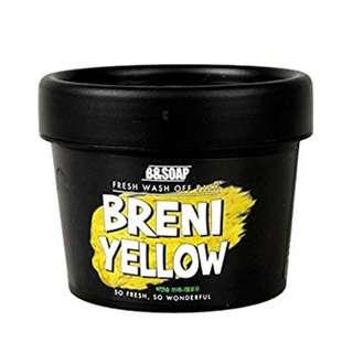 B&SOAP BRENI YELLOW Wash off Pack 130g / 4.6 oz Honey Skin Care for Women