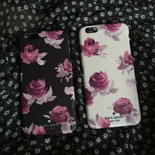 Kate Spade Black and White Floral Phone Case[iPhone Samsung]
