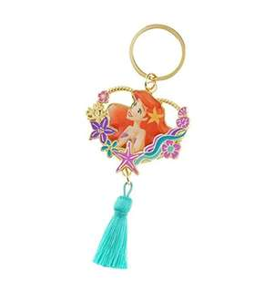 日本 Disney Store 直送 The Little Mermaid 小魚仙 Ariel Side by Side 系列心形匙扣