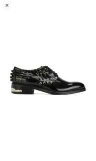 TOGA PULLA Stitch detail lace-up shoes