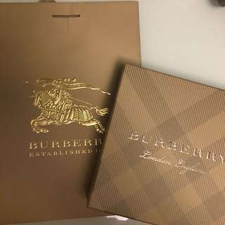 Burberry box with paper bag