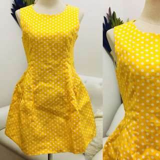 Yellow Dotted Bloom Dress