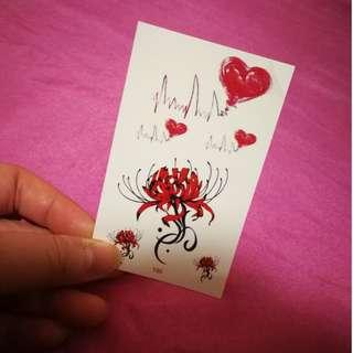 Tiny Tattoo Sticker (2) - red