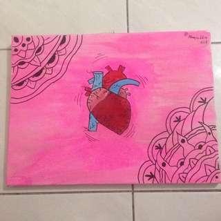 Heart orignal painting