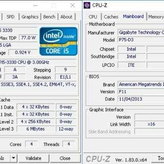 I5 3330 加板  gigabyte p75-d3  100%正常