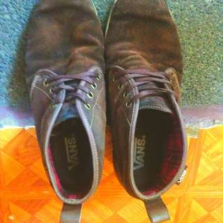 Vans hitop Brown Shoes