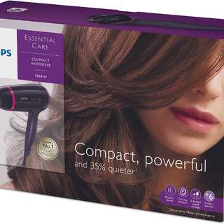 Philips Essential Care Compact Hairdryer BNIB