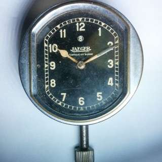 Jaeger Le Coultre 8 Day Car clock