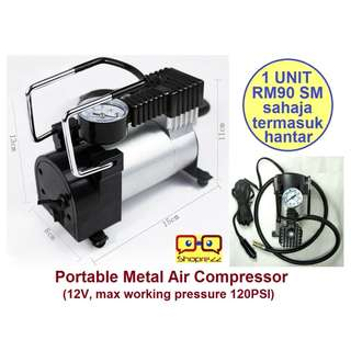 12V Portable Metal Air Compressor 120PSI