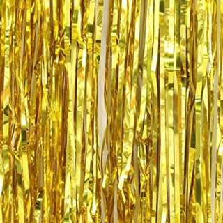 Gold Tinsel Curtain Backdrop