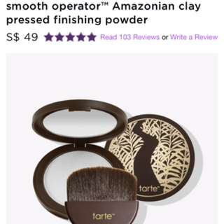 Tarte smooth operator Amazonian clay pressed powder