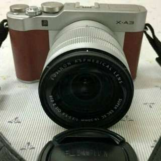 Fujifilm X-A3 with DSLR bag pack