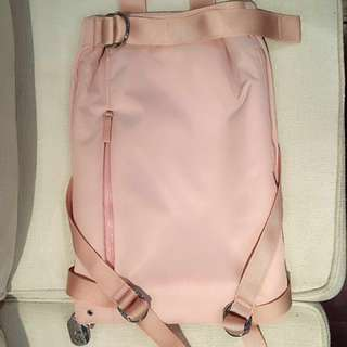 Calvin Klein baby pink Expandable Backpack