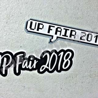 UP Fair 2018 Stickers