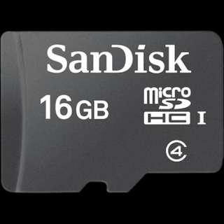 SanDisk Micro SDHC Card 16GB