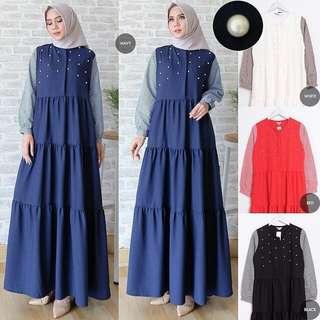 IKN - 0218 - Dress Busana Muslim Wanita Alonos Maxi