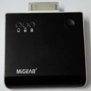 Migear Power Station Iphone 4/4s 手提電話 USB 外置充電器 尿袋 1650mAh