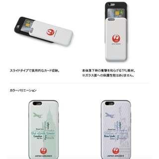 JAL 日本航空 iphone7/8 收納機殼 made in japan 日本製造