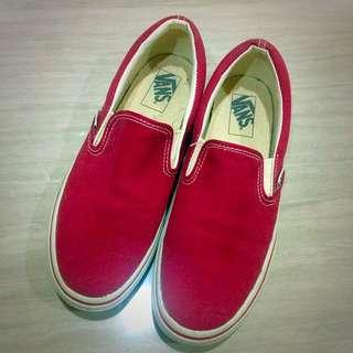 VANS暗紅色帆布鞋 8號26公分 #二手品牌好鞋
