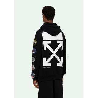 Off White 18SS Patches Zip Hoodie