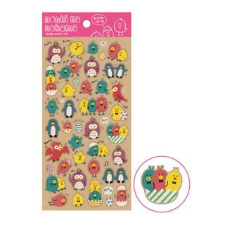 Only 2 Instock! (Mix & Match)*Mind Wave Japan - Nonki Na Nakama Tori theme Stickers