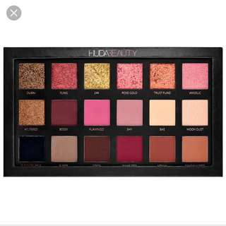 💄✨Huda beauty rose gold edition textured makeup eyeshadow palette new edition