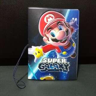 Super Mario Edition galaxy Passport Holder. Brand new. Rare design. Unused.