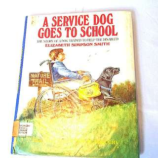 A service dog goes to school