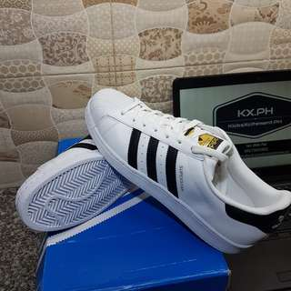 Adidas Super Star White/Black colorway US size 10.5