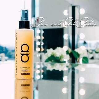 Alha Alfa Glow & Gold Glitter Finishing MakeUp Spray - 150ml