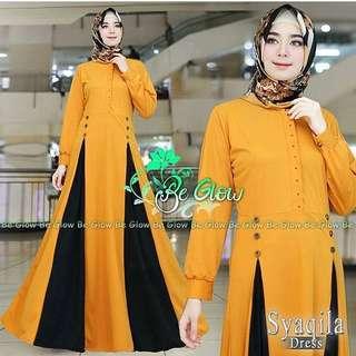 IKN - 0218 - Dress Busana Muslim Wanita Syaqila