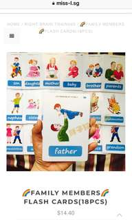 👍🏻 🌈FAMILY MEMBERS🌈FLASH CARDS(18PCS)