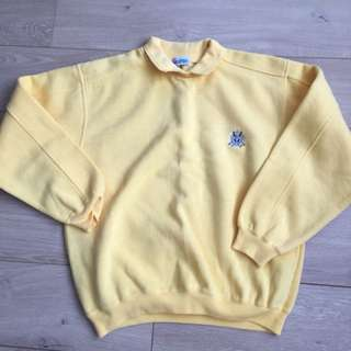 Vintage yellow sweater / jumper