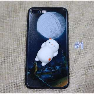 Panda Ball Squishy Toy Stress Reliever TPU Case for iPhone 6plus/6splus, 7/8, 7plus/8plus
